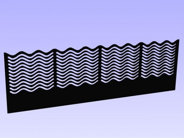 Ocean Wave Überlaufkamm 320 x 100 mm